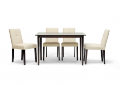 Elsa Brown Wood 5-Piece Dining